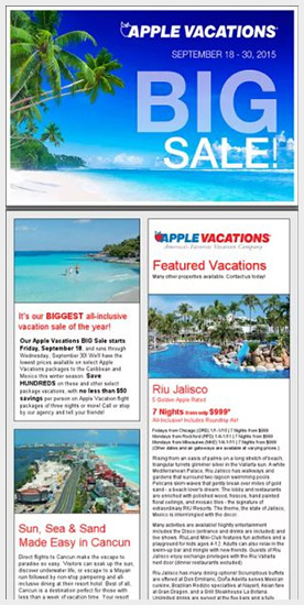 Apple Vacations BIG Sale
